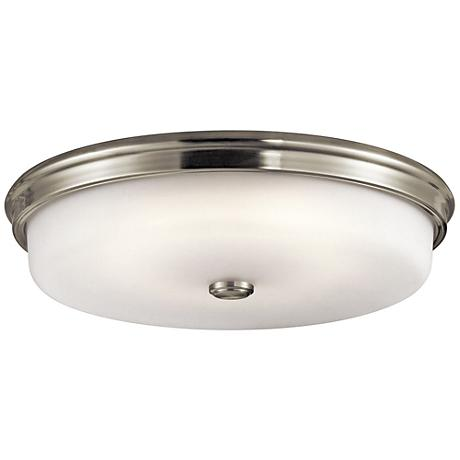 "Kichler Jefferson 18"" Wide Brushed Nickel LED Ceiling Light"