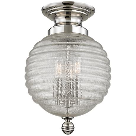 "Hudson Valley Coolidge 10""W Polished Nickel Ceiling Light"