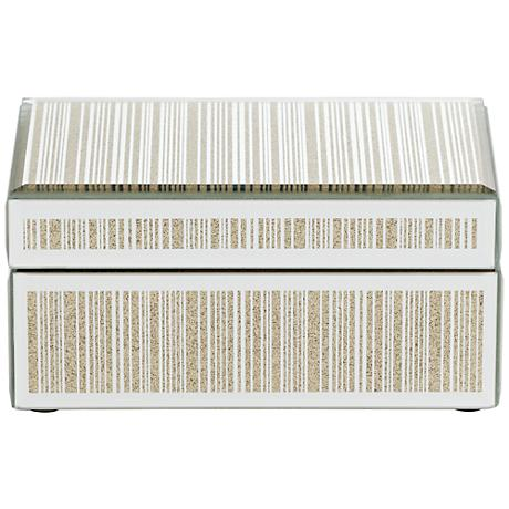 Mathieu Gold Small Mirrored Decorative Box