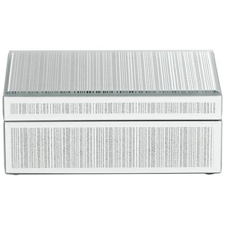Mathieu Silver Large Mirrored Decorative Box