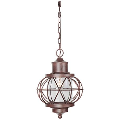 "Revere 16 1/2""W Bronze Outdoor Hanging Light"