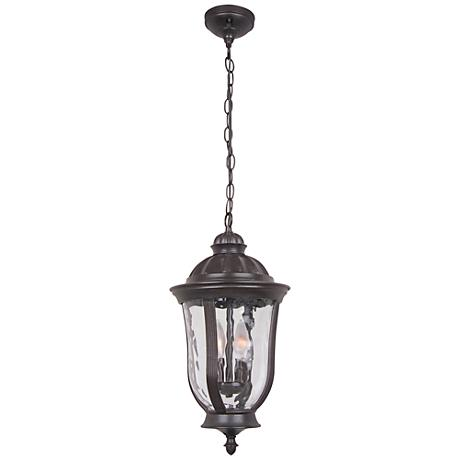 "Frances 18 1/4""W Bronze Hanging Outdoor Light"