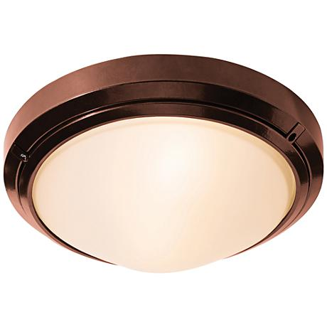 "Oceanus 12"" Wide Bronze LED Outdoor Ceiling Light"