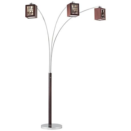 lite 5 arm polished steel arc floor lamp v1253. Black Bedroom Furniture Sets. Home Design Ideas