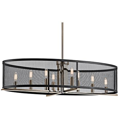 Kichler Titus 37 1 4 Quot W Nickel 8 Light Oval Island Pendant