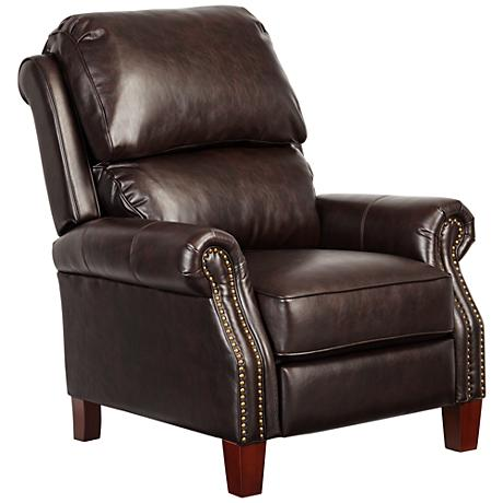 Carlson Saratoga Bark Bonded Leather Match 3-Way Recliner