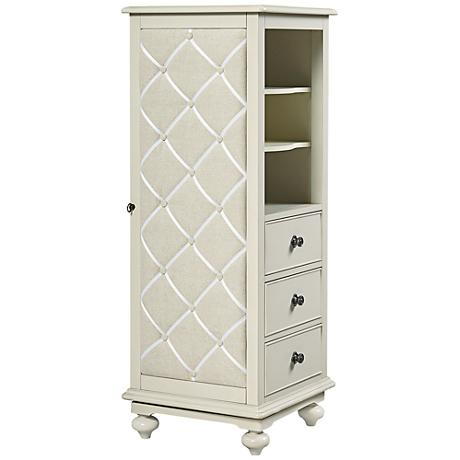 Inspirations Dreamer Seashell White Swivel 3-Drawer Chest