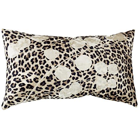Aviva Stanoff Printed Cheetah 12x20 Crushed Velvet Pillow