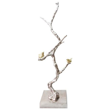 "Solikka Tree Branch 28"" High Aluminum Sculpture"