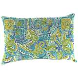 "Destiny Caribbean 18""x12"" Outdoor Accent Pillow"