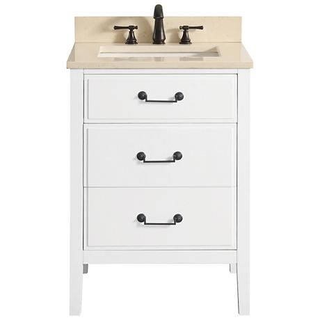 "Avanity Delano White 25"" Galala-Top Single Sink Vanity"