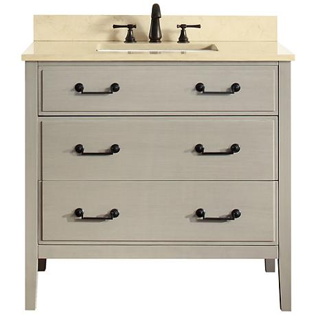 "Avanity Delano Taupe 37"" Galala-Top Single Sink Vanity"
