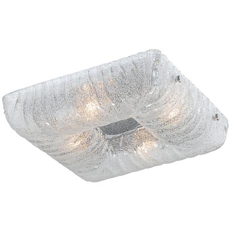 "Eurofase Spectra 15"" Square Sugar Glass Ceiling Light"