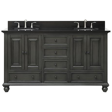 "Avanity Thompson Charcoal 61"" Granite Double Sink Vanity"