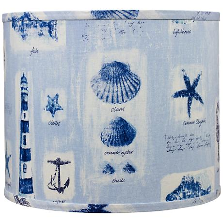 Blue Beachcomber Surf Drum Shade16x16x13 (Spider)
