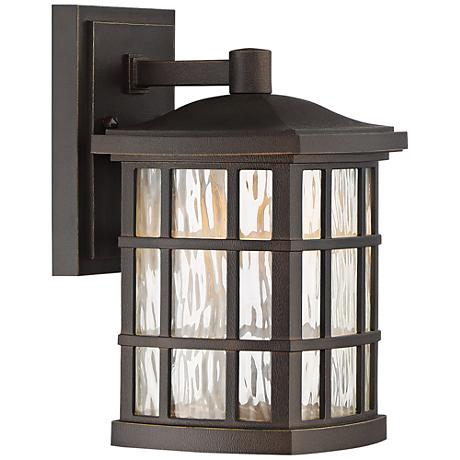 "Stonington 10 1/2""H Palladian Bronze LED Outdoor Wall Light"