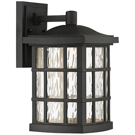 "Stonington 13"" High Mystic Black LED Outdoor Wall Light"