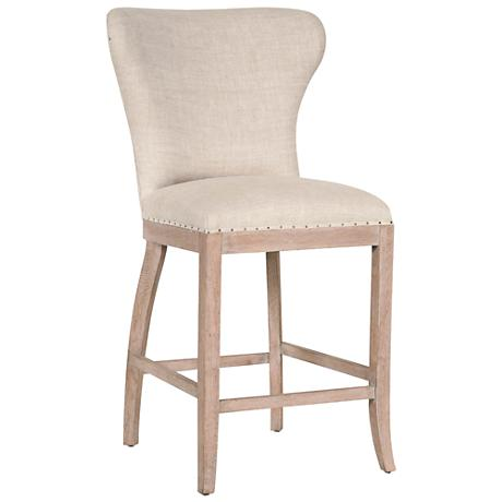 "Essentials Welles 26"" Bisque French Linen Counter Stool"