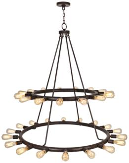 "Crystorama Dakota 42""W Dark Bronze 33-Light Chandelier (1P586) 1P586"