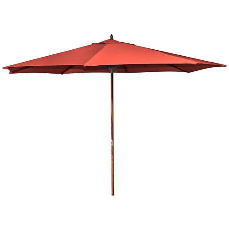 Oceanside Melon 9' Wooden Market Umbrella