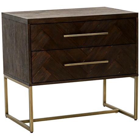 Traditions Mosaic Rustic Java Wood 2-Drawer Nightstand