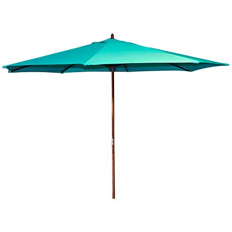 Oceanside Aruba 9' Wooden Market Umbrella