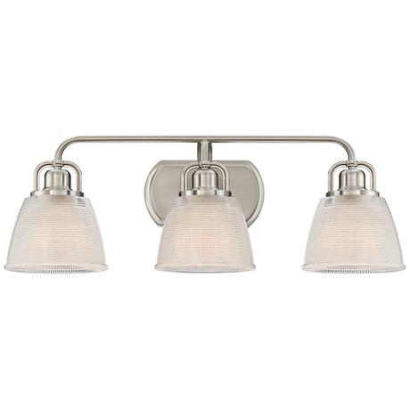 "Quoizel Dublin 25"" Wide Brushed Nickel Bath Light"