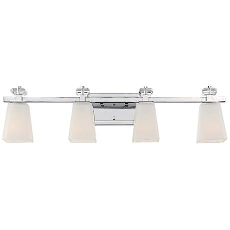 "Quoizel Supreme 31"" Wide Polished Chrome Bath Light"