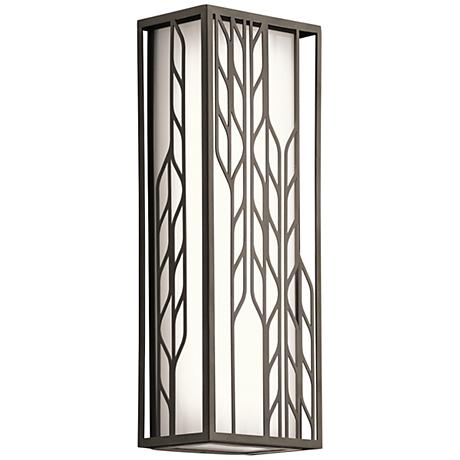 "Kichler Magnolia 16""H LED Olde Bronze Outdoor Wall Light"
