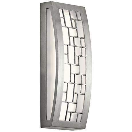 "Kichler Margeaux 12"" High LED Aluminum Outdoor Wall Light"