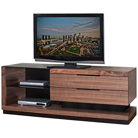"Stratus Walnut 2-Drawer 70"" Television Console"