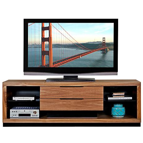"Stratus Walnut 2-Drawer 80"" Television Console"