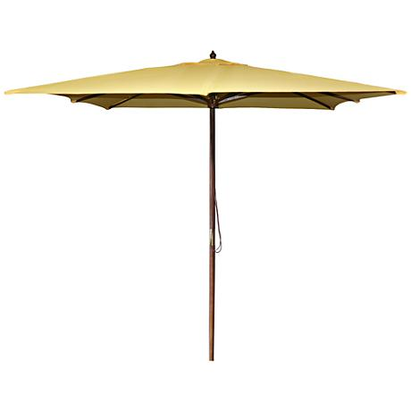 La Jolla Canary 8 1/2' Wooden Square Market Umbrella