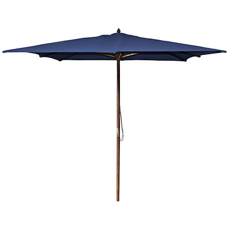 La Jolla Navy 8 1/2' Wooden Square Market Umbrella