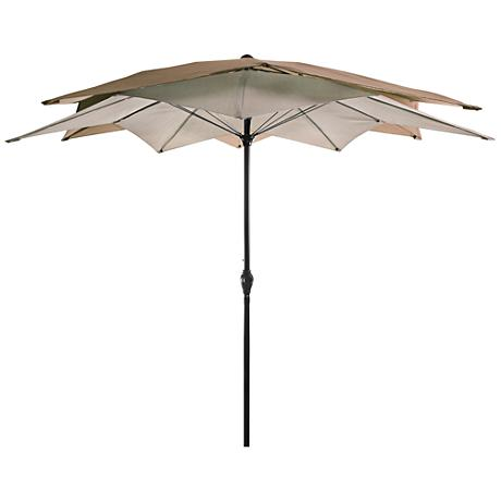Mission Bay Two-Tone Cocoa 8 1/2' Steel Lotus Umbrella