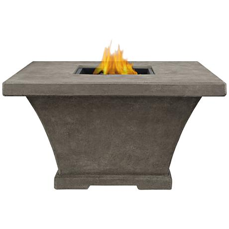 Monaco Gray Chat-Height Square Propane Fire Table