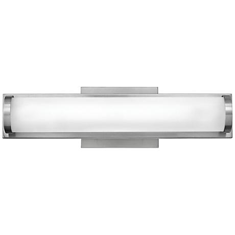 "Hinkley Acclaim 16"" Wide LED Brushed Nickel Bath Light"