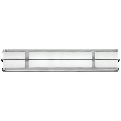"Hinkley Fairlane 29 1/2""W 2-LED Brushed Nickel Bath Light"