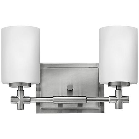 "Hinkley Laurel 2-Light 13"" Wide Brushed Nickel Bath Light"