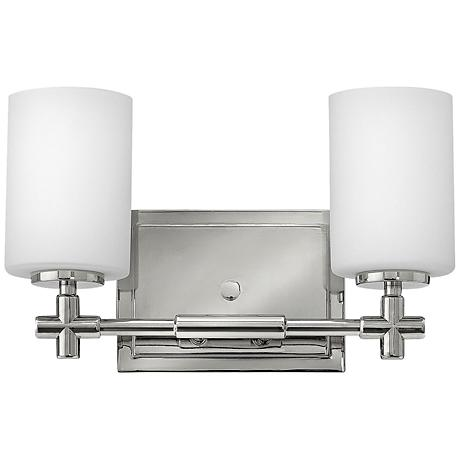"Hinkley Laurel 2-Light 13""W Polished Nickel Bath Light"