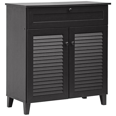 Calvin Espresso 2-Door 1-Drawer Shoe Cabinet