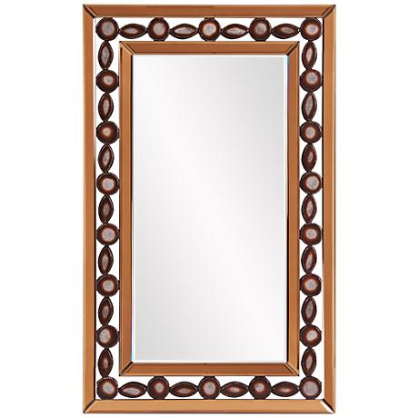 "Howard Elliott Copper 23"" x 37"" Rectangular Wall Mirror"
