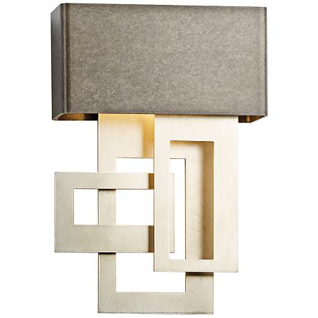 """Collage 13 3/4"""" High Smoke Small LED Wall Sconce"""