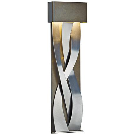 "Hubbardton Forge Tress 31 3/4""H Black Large LED Wall Sconce"