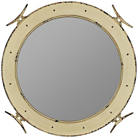 "Cooper Classics Piombino 27"" Round Nautical Wall Mirror"