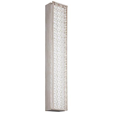 "Feiss Kenney 35""H Sunrise Silver 6-Light LED Wall Sconce"