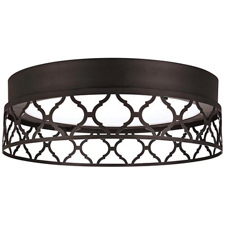 "Feiss Amari Vintage 13""W Oiled Bronze LED Ceiling Light"