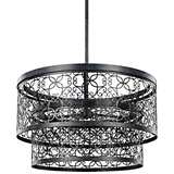 "Feiss Arramore 24""W LED Dark Zinc Outdoor Hanging Light"