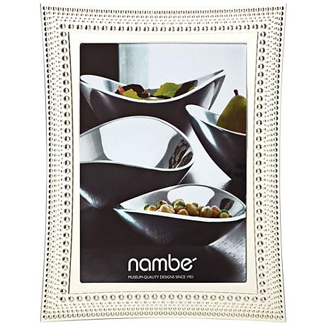Nambe Beaded 5x7 Silver Picture Frame