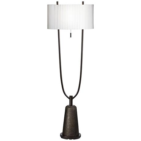 Virga Black 2-Prong Base Metal Floor Lamp
